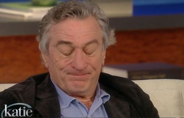 Tough Guy De Niro Sheds a Tear