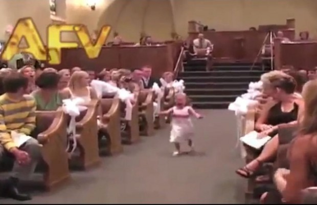 Flower Girl Makes Hilarious Entrance
