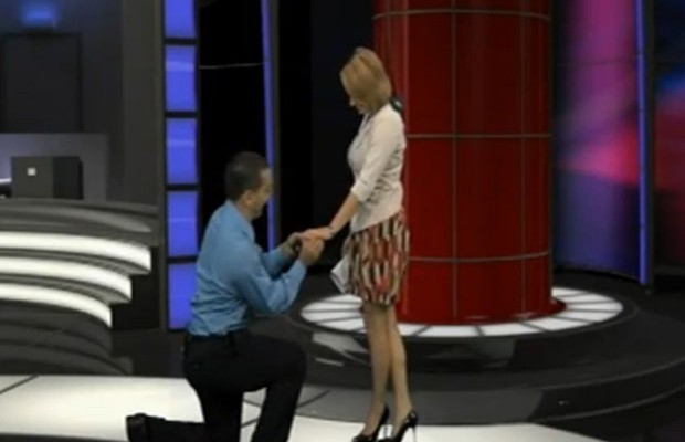 Surprise Proposal LIVE on TV