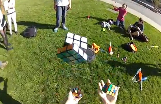 Solving Rubik's Cube while Juggling