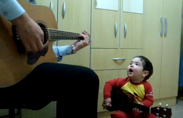 Adorable Toddler And His Dad Cover The Beatles