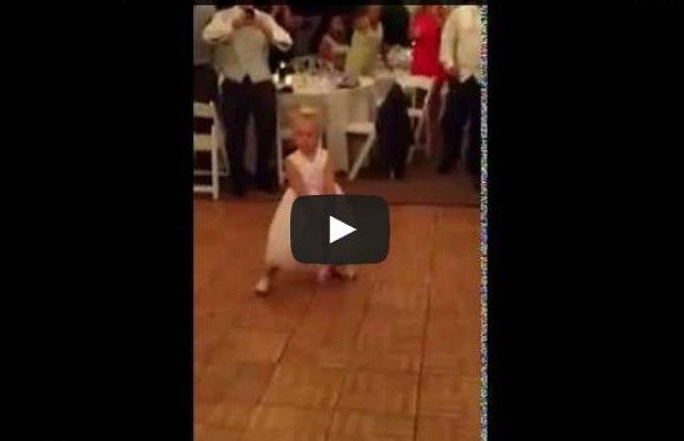 Little Girl At Wedding Has Awesome Dance Moves