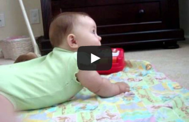 Barking Dog Cracks Up baby
