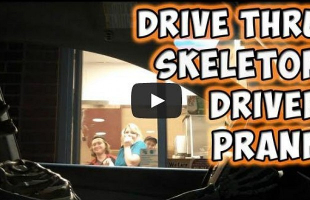 Drive Thru Skeleton Prank