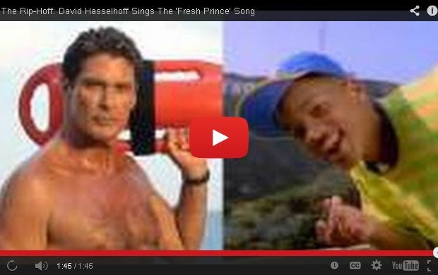 David Hasselhoff as the Fresh Prince of Bel-Air