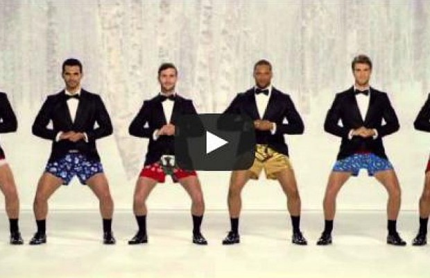 "K-Mart ""Rings"" In Christmas With Hunky Men"