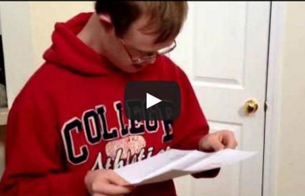 This Student With Down Syndrome Receiving His College Acceptance Letter Will Melt Your Heart