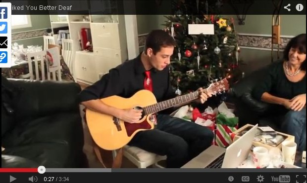 Son Writes Song for Deaf Dad