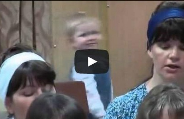Passionate Little Girl Adorably Conducts Church Choir
