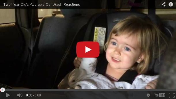 A Terrified Two-Year-Old Goes Through a Car Wash for the First Time
