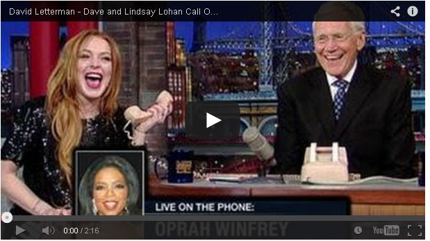 Lindsay Lohan and David Letterman Prank Calling Oprah