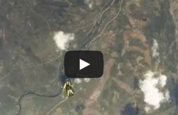 Meteorite Nearly Hits Skydiver