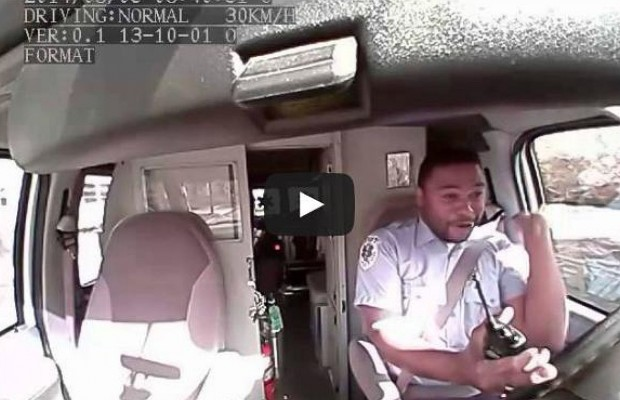 "EMT Driver Caught ""Vouging"" On Tape"