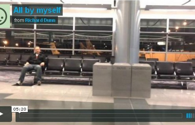 Man Stuck In Airport Recreates Celine Dion Video