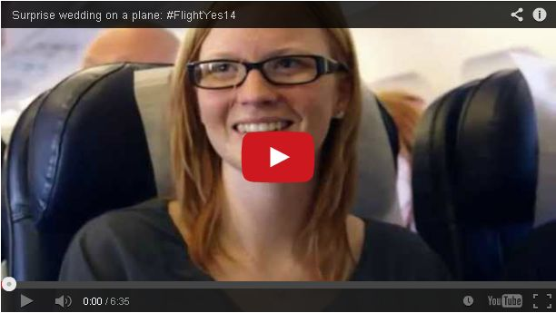 A Couple Got Engaged and Then Married During a Flight