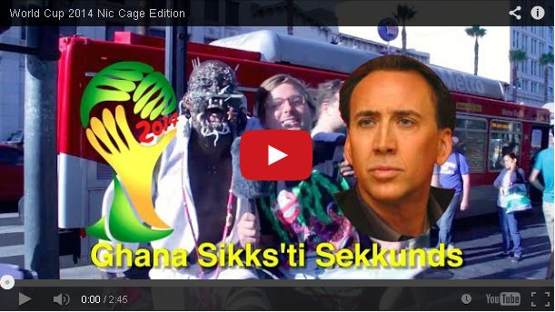 A World Cup Prank . . . Featuring Nicolas Cage Movies?
