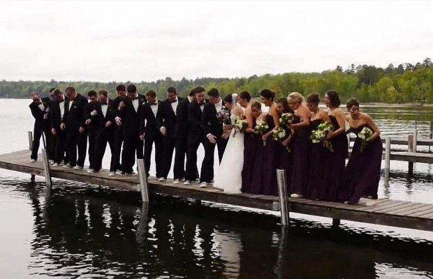 Watch An Entire Wedding Party Fall Into A Lake