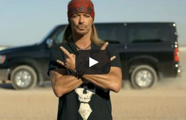Bret Michaels Sings A Love Song To a Nissan Van